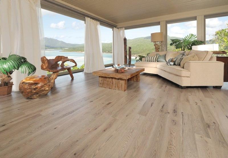 Bedroom With A Natural Yellow Birch Hardwood Floor